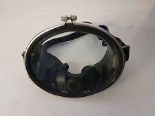 Vintage Oval Scuba Diving Mask - Black