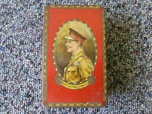 Henry Thorne & Co Ltd Leeds Tin HRH The Prince Of Wales portrait Red Edward Viii