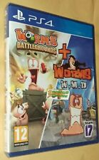 Worms Battlegrounds + Worms WMD Double Pack Playstation 4 PS4 NEW SEALED
