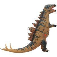 Adults Inflatable Dinosaur Costume Stegosaur Halloween Cosplay Party Fancy Dress