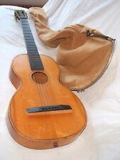 old antique parlor guitar inlays gitarre antik guitarra antico old gig bag