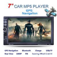 "7"" HD Doble 2DIN coche MP5 Player GPS Bluetooth pantalla táctil estéreo FM radio"