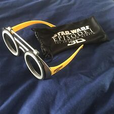 Star Wars Rare 3D Glasses Pod Racer Racing Phantom Menace Episode 1 Collectable