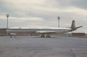 CIVIL AIRCRAFT PHOTO POSTCARD OLYMPIC AIRWAYS PLANE PICTURE OF A COMET 4B G-ARDI