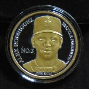 ALEX RODRIGUEZ A-ROD NY YANKEES SEATTLE MARINERS COIN .999 SILVER ROUND 1 / 500