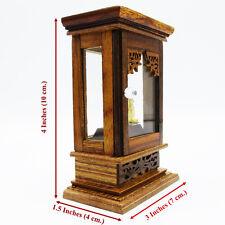 1:12  Buddha statue Base Altar Cupboard Display Cabinet Teak Wood Thai handmade