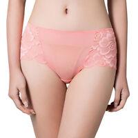 L-3XL Women Cotton Lace underwear panties briefs seamless plus size breathable