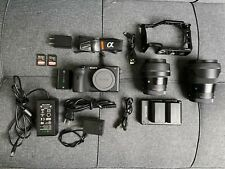 Sony Alpha a6600 + Sigma 16mm f1.4 + Sigma 30mm f1.4 + 2 Batteries & More!