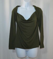 ALLISON BRITTNEY Women's Green Long Sleeve Knit Top Size M