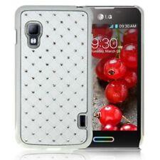 Hard Case/Schutz-Hülle zu LG E455 Swift L5 II - BLING STRASS Weiß Handy-Hülle
