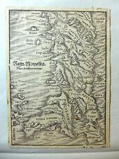 Mappa SUD ITALIA REGNO DI NAPOLI PUGLIA  Munster RARO
