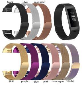 Fitbit Charge 3/4 Milanese Armband Ersatz Fitness Tracker Edelstahl Mash Sport