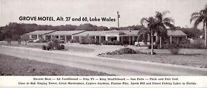 OVERSIZE GROVE MOTEL LAKE WALES FLORIDA FL  POSTCARD