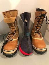 Sorel Mountaineer men's winter boots tan duck slip on with liner size 7