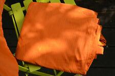 Bettwäsche, Satin, orange, leichter Streifen, sehr hübsch, nur 2 mal verwendet!