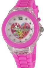 Shopkins Girl's Pink Digital Watch with Light Up Feature KIN9004