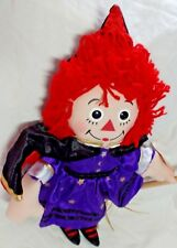 "NEW 2003 Raggedy ANN Halloween DRESS UP Costume Doll - 15"" Applause Hasbro Doll"