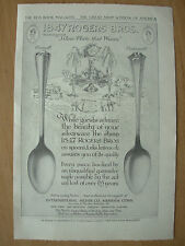 VINTAGE 1915 ADVERTISEMENT - 1847 ROGERS BROS - SILVER PLATE THAT WEARS