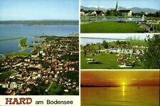 AK~1970er -HARD am Bodensee- Strandbad, Luftbild + Hafen