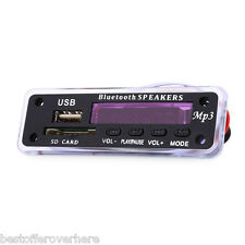 M01Bt Mp3 Decoder Board Bluetooth Hands-free Call Remote Control for car Black