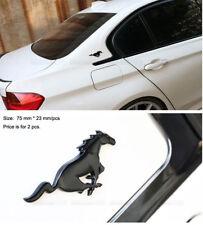 B237 ein paar Pferd schwarz Emblem Badge auto aufkleber metall Seite car Sticker