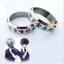 1pcs Cosplay Anime Tokyo ghoul Ken Kaneki Titanium steel ring rings M3