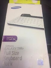 Samsung Full Size Keyboard Dock for Samsung Galaxy Tab 7.7 - WhitE NEW BOXDAMAGE