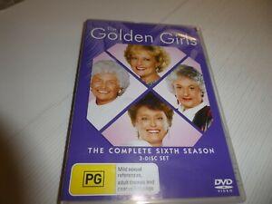 The Golden Girls Season 6 (DVD, Region 4) HM16