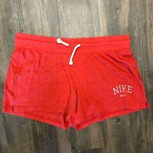 Nike The Athletic Dept. Red Women Drawstring Sweat Shorts Size XL