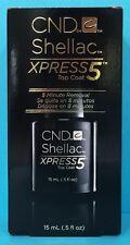 CND SHELLAC XPRESS 5 TOP COAT ~ 5 Minute Express Removal ~ .5 oz / 15 mL NEW