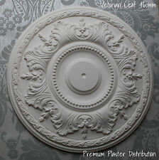 "Plaster Ceiling Rose Victorian Floral Leaf  18"" 460mm Inc Adhesive & Fixing Kit"