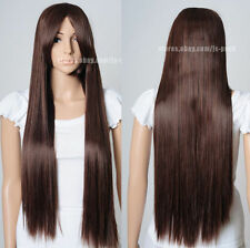 Hot Sell ! New Heat Resistant brown long 80cm straight Cosplay Wig     g98