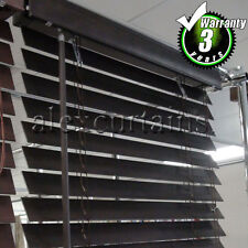 Timber Venetian Blinds, Size: 180x210cm, 50mm Slat, Colour: Walnut Dark