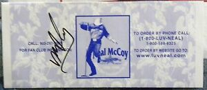Country Music Star Neal McCoy Signed 1999 Fan Club Flyer Auto