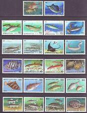 """Korea - """"Fish""""  22v (completed set) 1985-89 (SCV 30$)"""