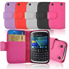 Blackberry 9320 PU Leather Wallet Case Cover with 2 Slot Card Holder