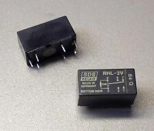 2 Stück SDS RHL-2V Subminiatur-Kunststoff-Relais (M3912)