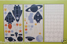 Circo Blast Off Space Rockets Wall Stickers Decals boys room decor new