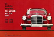 Mercedes Benz 180 190 D Art Print High-Quality Vintage Racing 22x17in Art Poster