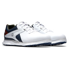 *New* FootJoy FJ Men's Pro/SL Golf Shoes Style M - White/Navy & Free Shipping