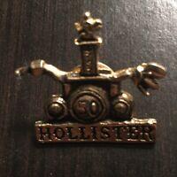 Hollister California Biker Pin - Vest Pin - Gold