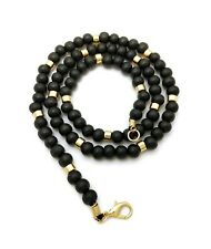 """Bead Lobster Clasp Necklace Xc542 Hip Hop 8mm 18"""",20"""",24"""" ; Wooden"""