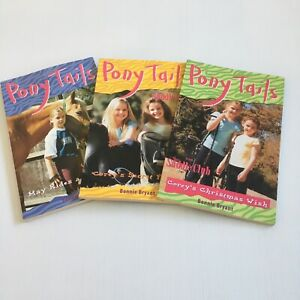 Pony Tails The Saddle Club #8 #12 #15 Paperback Bonnie Bryant