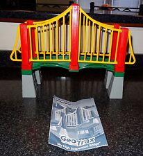 Fisher Price GeoTrax Geo Trax Sky High Suspension Bridge Train w/Trolley Car SL