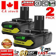 2×18V 2500mAh lithium battery Replace For Ryobi P107 P108 P122 P102 P103 P109 ST