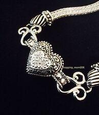 """NEW Lia Sophia """"Love Dust"""" Cut Crystal Heart Bracelet"""