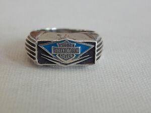 Sterling Silver 925 Mod Harley Davidson Ring Sz 11