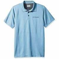 MSRP $50 Columbia Men's Utilizer Polo Aqua Size Large