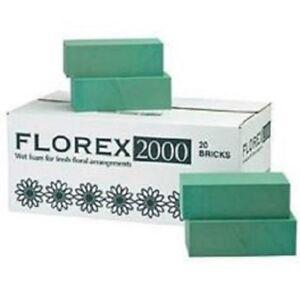 Florex Florist Flower Wet Foam Bricks For Fresh Floral Arrangements