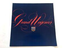 1986 Jeep Grand Wagoneer 12-page Original Car Dealer Sales Brochure Catalog